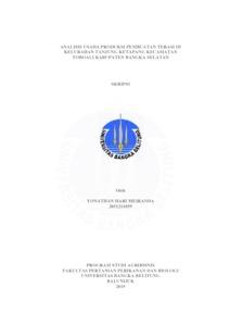 Analisis Usaha Produksi Pembuatan Terasi Di Kelurahan Tanjung Ketapang Kecamatan Toboali Kabupaten Bangka Selatan Repository Universitas Bangka Belitung